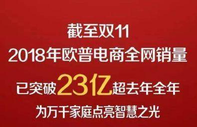 37个品牌双11成交额过亿元,照明业欧普,雷士照明上榜枣阳